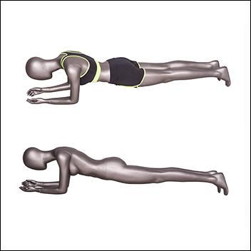 Female Fitness Mannequin in Plank Pose