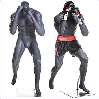 MMA or Boxing Mannequin in Ready to Fight Pose