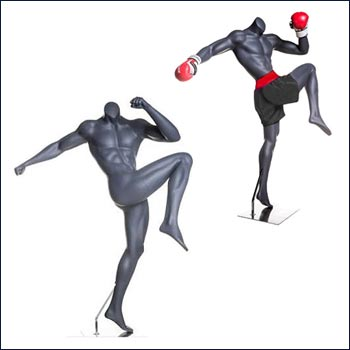 MMA or Boxing Mannequin Throwing A Knee Kick Pose