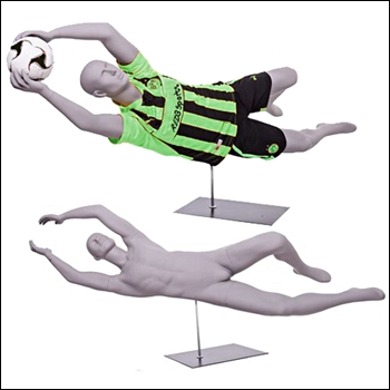 Goalie Dive Soccer Pose or Football Dive Catch Mannequin Pose