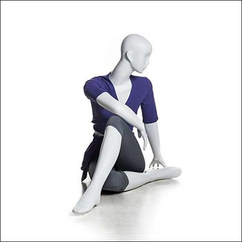 White Yoga Mannequin Display - Half Lord of Fishes Pose