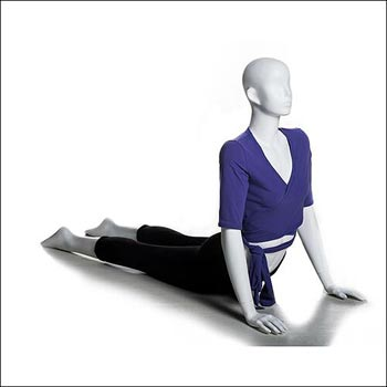 White Yoga Mannequin Display - Upward Dog Pose