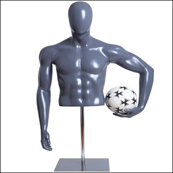 Soccer Player Form Holding Ball with Base - Male or Female Options Available