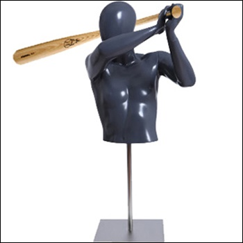 Baseball/Softball Player Form Holding a Bat with Base - Male or Female Options