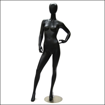 Egg Head Female Mannequin, Hip Pose
