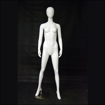 Female Egghead Mannequin, with Arms by side,Open Legs