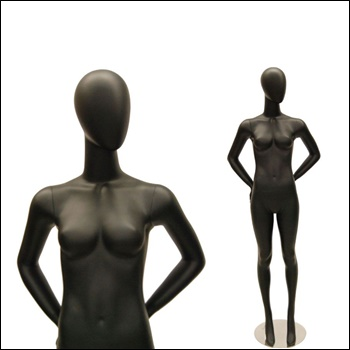 Egg Head Female Mannequin, standing Pose.
