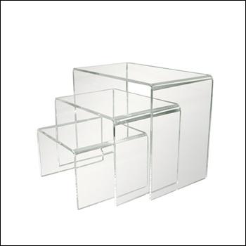 Set of 3 Acrylic Display Risers
