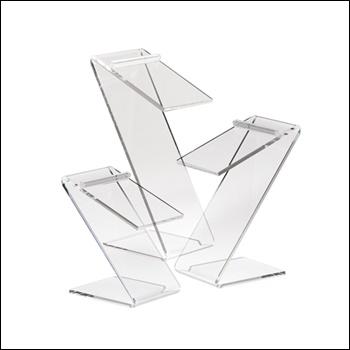 Set of 3 Beveled Edge Z-Shaped Shoe Risers