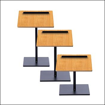 Black Texture Shoe Stand, Set of 3