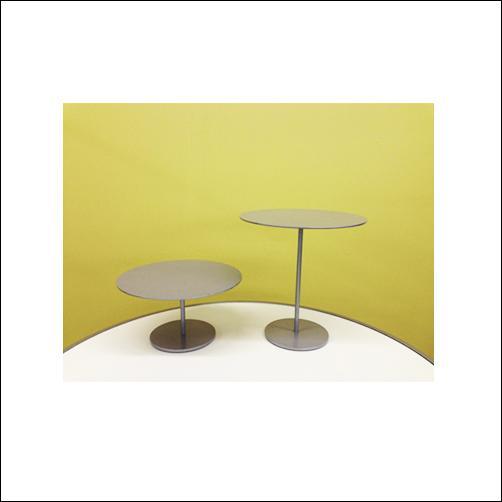 "10"" Diameter Round Risers - Matte Silver"
