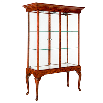 Classic Royal Tall and Wide Showcase with Crown Molding - Multiple Finish Options