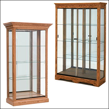 Classic Real Wood Collectors Showcase - Multiple Size & Finish Options