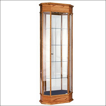 Classic Real Wood Octagon Tower Showcase