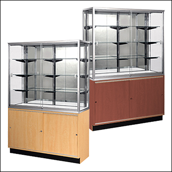 Standard Wall Case With Storage - Multiple Finish Options