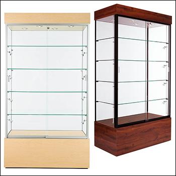 Traditional Euro Rectangular Trophy Showcase - Multiple Options