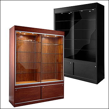 Euro Front View Trophy Wall Case - Multiple Finish Options