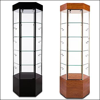 Euro Hexagonal Tower Display - Multiple Finish Options