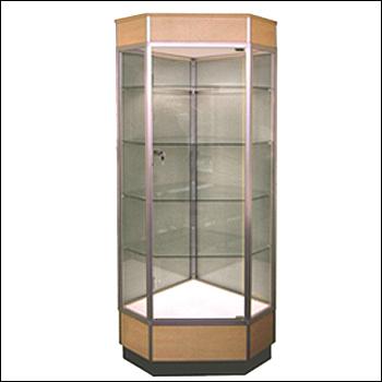 Standard Tall Corner Showcase - Multiple Finish Options