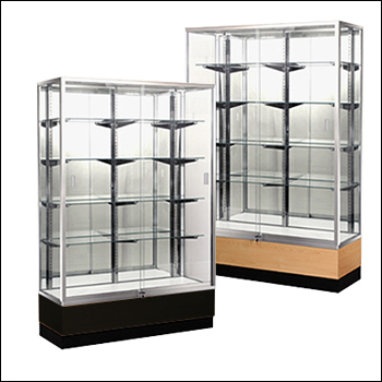 Standard Full Vision Trophy Style Wall Case - Multiple Finish Options