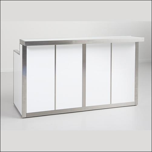 Contemporary Counter - White High Gloss