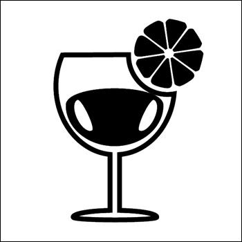 Beverage With Garnish Silhouette