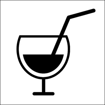 Beverage With Straw Silhouette