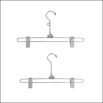"12"" Chrome Pant & Skirt Hanger (100 ct.) Loop Option"