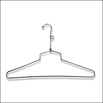 "12"" Chrome Shirt & Dress Hanger with Loop (100 ct.)"