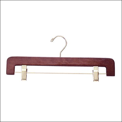 "14"" Pant & Skirt Curved Edges Wooden Hanger (100ct.) - Color Options"