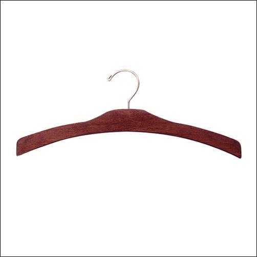 """16"""" Decorative Dress & Top Wooden Hanger (100ct.)"""