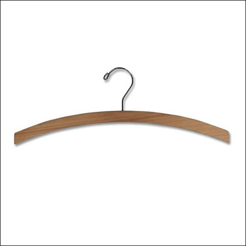 "16"" Economy Natural Wood Top Hanger (100 ct.)"