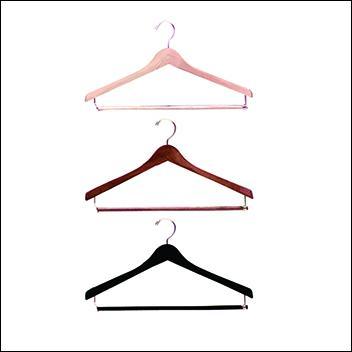 """17"""" Wooden Suit Hanger (100ct.) - Multi Color Options"""
