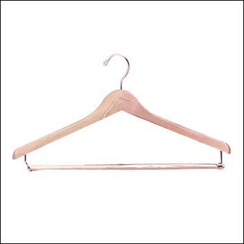 "17"" Wooden Suit Hanger (100ct.)"
