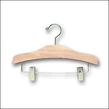 """12"""" Wood Children's Pant & Skirt Hanger - 100 pcs"""
