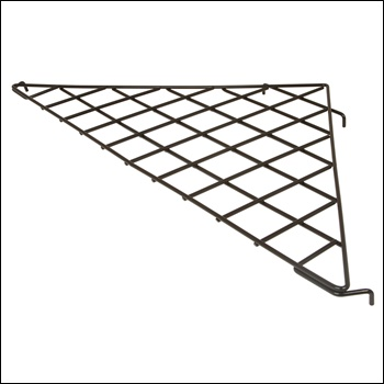 "24"" x 24"" x 34-1/2"" Triangular Shelf (1/4 - wire)"