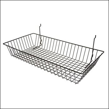 "24""W x 12""D x 4""H Shallow Basket (Set of 6) - Multiple Finish Options"