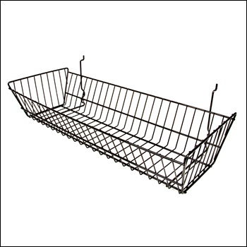 """24""""W x 10""""D x 5""""H Double Sloping Basket - Set of 6 - Multiple Finish Options"""