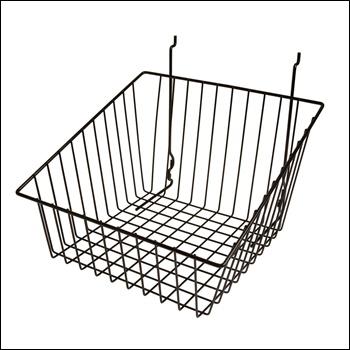 "12""W x 12""D x 8""H Sloped Front Basket - Set of 6 - Multiple Finish Options"