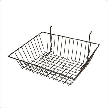 """15""""W x 12""""D x 5""""H Sloping Basket - Set of 6 - Multiple Finish Options"""