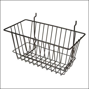 "12""W x 6""D x 6""H Narrow Basket - Set of 6 - Multiple Finish Options"