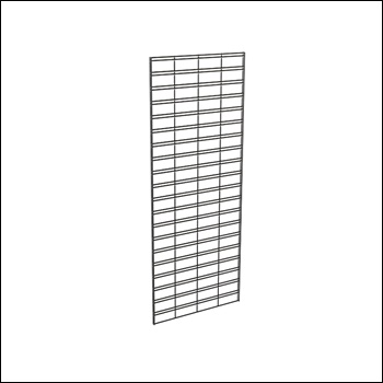 2'W Slatgrid Panel - White, Black & Chrome
