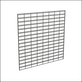 4'W x 4'H Slatgrid Panel - White, Black & Chrome