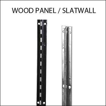 Recessed Concealed Standards For Wood Panel or Slatwall
