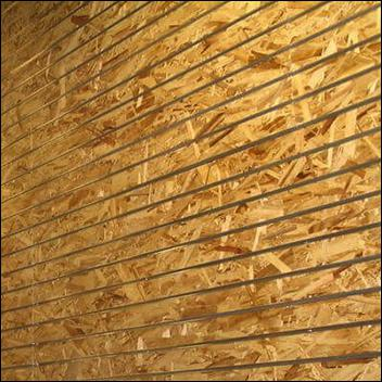 OSB Flake Board Slatwall Panel with Metal Inserts