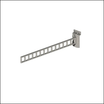 Urban Slatwall Straight Arm with Square Holes
