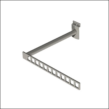 Urban Slatwall L-Shaped Display Arm