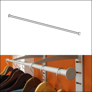 "Urban Hangrail with End Cap Stoppers - 48"" Long (2)"