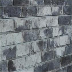 Old Painted Gray Brick Slatwall Panel