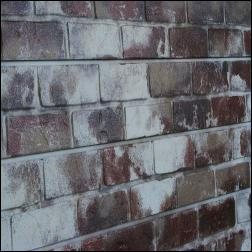 Old Painted Red Brick Slatwall Panel
